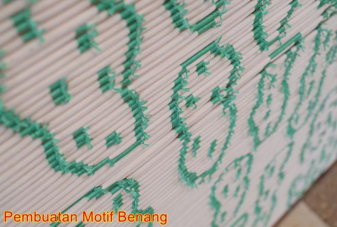 Pembuatan motif benang